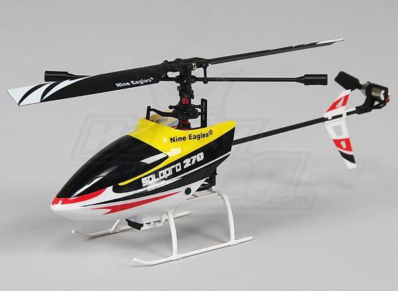 独奏PRO 270 4路固定摊位微型直升机 - 黄色(模式2)(RTF)