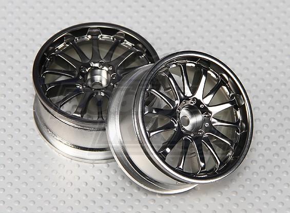 1:10比例轮组(2个)青铜色14辐式遥控车26毫米