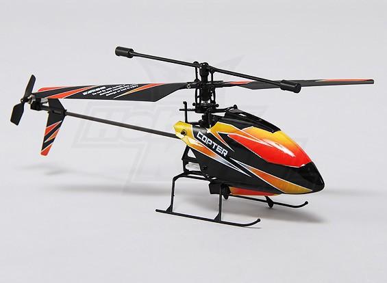 Hobbyking FP100 2.4GHz的4路微型直升机模式2(RTF)