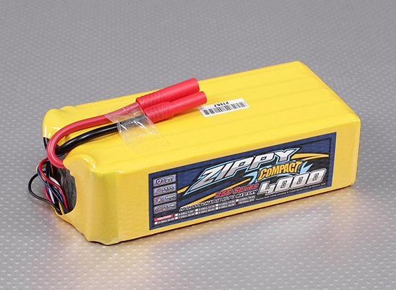 ZIPPY紧凑型4000mAh的10S 25C前列包