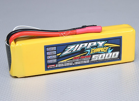 ZIPPY紧凑型5000mAh的4S 25C前列包