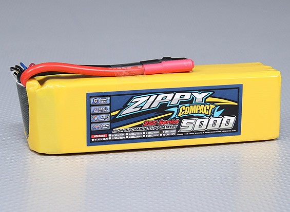 ZIPPY紧凑型5000mAh的5S 25C前列包