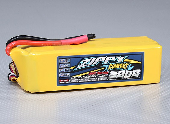 ZIPPY紧凑型5000mAh的7S 25C前列包