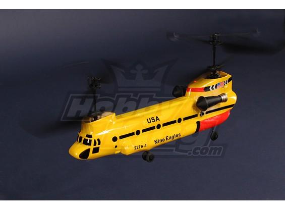 227A TWINGO 2.4GHz的同轴串联直升机绑定 - & - 飞(黄色)
