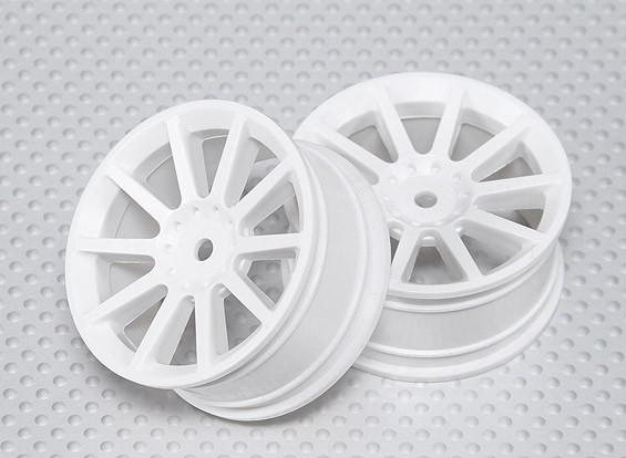 1:10比例轮组(2个)白10辐式遥控车26毫米(无偏移)