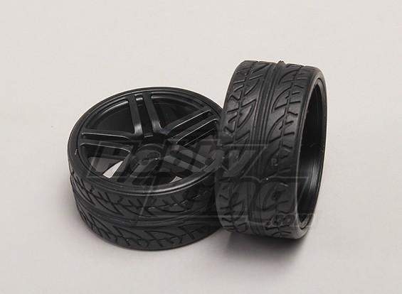 车轮/轮胎(2只/袋) -  1/18 4WD RTR道路上的汽车漂移
