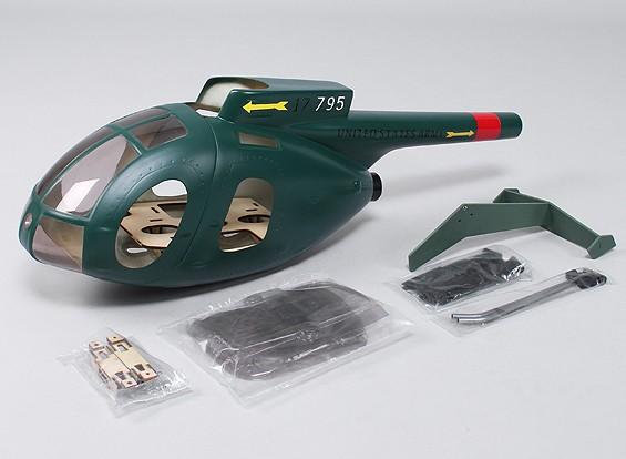 休斯MD500机身玻璃纤维为450直升机大小