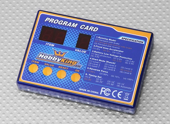 HobbyKing船ESC编程卡