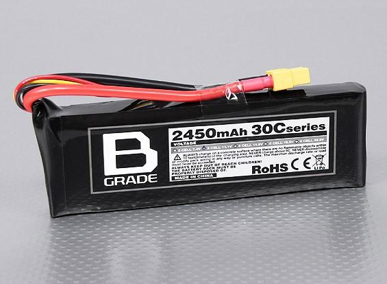 B级2450mAh 3S 30C Lipoly电池