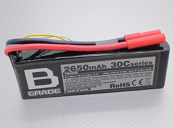 B级2650mAh 4S 30C Lipoly电池