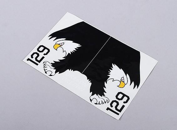 美国海军鹰左,右手 - 大型自粘