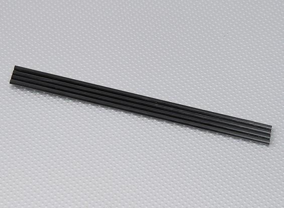 Turnigy HAL碳纤维垂直着陆橇棒5毫米x 250毫米(4只/袋)