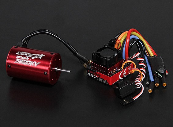 Turnigy TrackStar防水1/10无刷动力系统3520KV / 80A