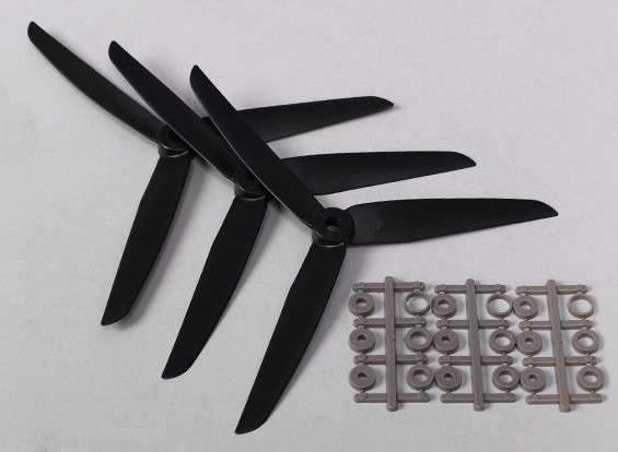 Hobbyking™3叶螺旋桨7x3.5黑色(CCW)(3个)