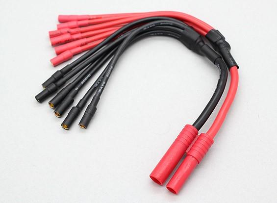 HXT4毫米至6×3.5毫米子弹多星ESC电源分支电缆