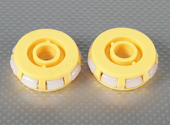 51x17mm全塑料轮(二位/袋)