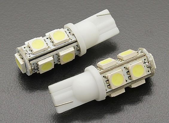 LED玉米灯12V 1.8W(9 LED) - 白(2个)