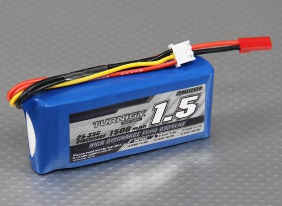 Turnigy 1500mAh的2S 25C Lipoly电池