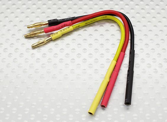 2.0毫米男/女子弹无刷电机扩展导线百毫米