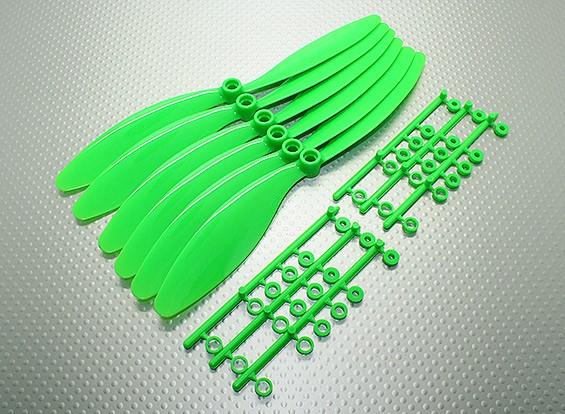 GWS EP反向旋转螺旋桨(RH-8060 203x152mm)绿色(6件/套)