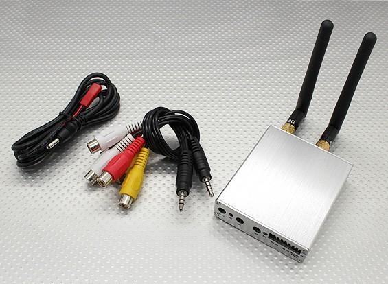 SkyZone 5.8GHz的8CH多样性A / V接收器W /双输出