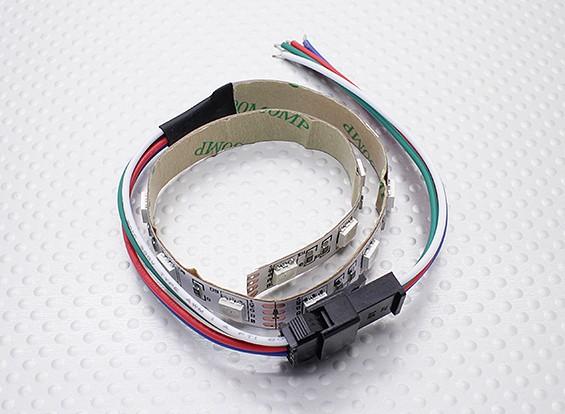 LED红,绿,蓝(RGB)条25厘米W /飞线