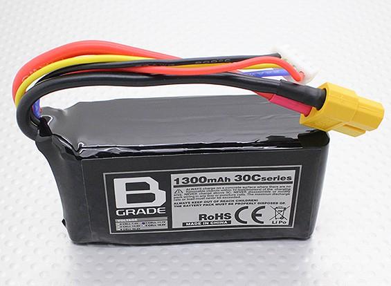 B级1300mAh的3S 30C Lipoly电池