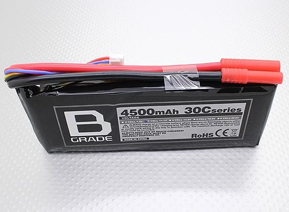 B级4500mAh的3S 30C Lipoly电池