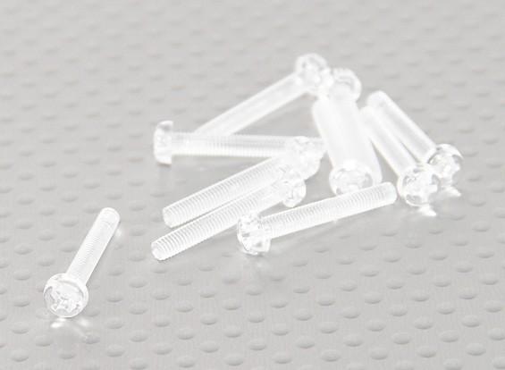 透明的聚碳酸酯螺丝M3x20mm  -  10片/袋