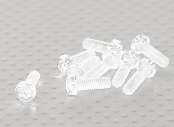 透明的聚碳酸酯螺丝M4x12mm  -  10片/袋