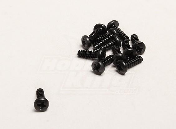 自攻3x10mm十字螺丝(12支/袋) -  Turnigy开拓者1/8,XB和XT 1/5