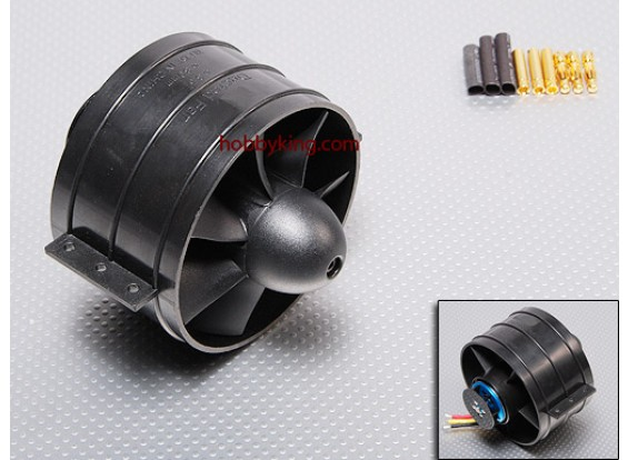 EDF89与D3468kv电机和散热片组装