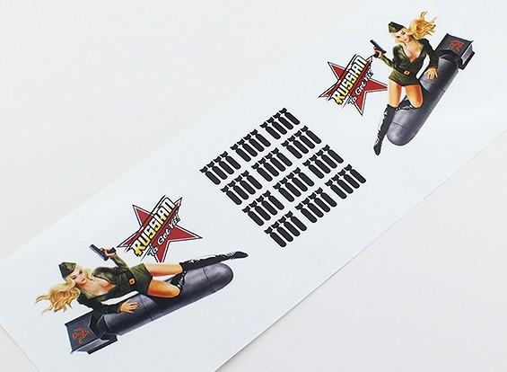 """鼻艺术 - """"俄罗斯的Ta获得亚!"""" L / R手贴纸"""