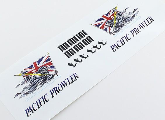 """机头艺术 - """"太平洋徘徊者""""(英国国旗)L / R双手贴花"""