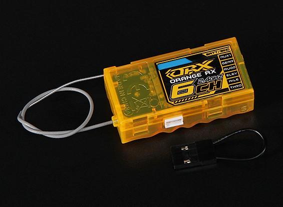 OrangeRx R620 DSM2兼容全范围6CH的2.4GHz接收器瓦特/故障保护