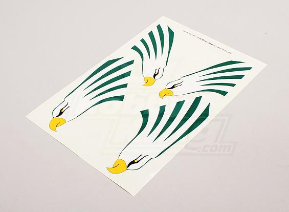 鹰的垂直尾翼左,右侧