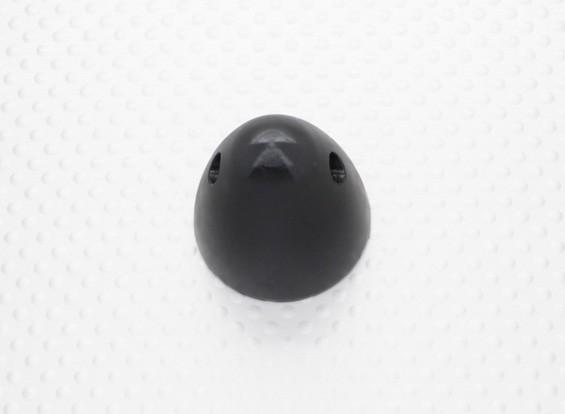 30毫米铝微调道具螺母M5x0.8(阳极化处理的黑色涂层)