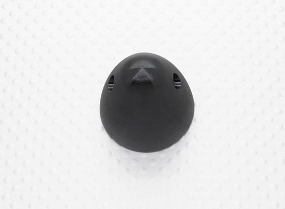 30毫米铝微调道具螺母M7x1.0(阳极化处理的黑色涂层)