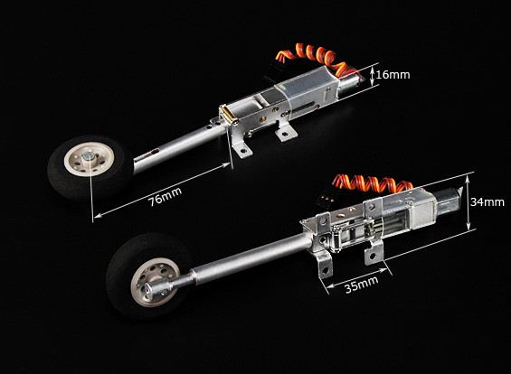 Turnigy 90度的全金属收回系统瓦特/游丝腿的/车轮(型号2KG AUW最大)
