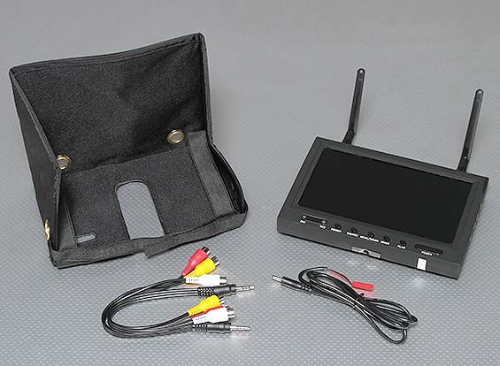 7英寸800×480 5.8GHz的分集接收机及TFT LCD FPV带LED背光显示器SkyZone