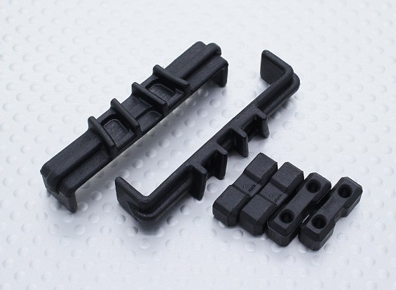 伺服安装和电池卡子 - 硝基马戏团锤1/8比例怪物卡车