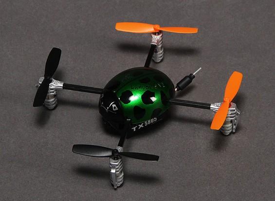 华科尔QR瓢虫V2 FPV超微型四轴飞行器W /泥盆F4 RTF(模式1)