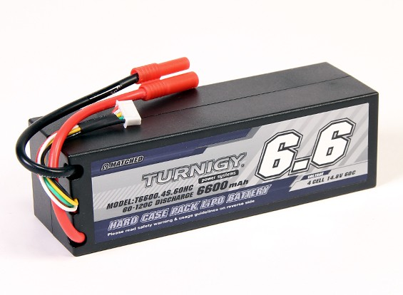 Turnigy 6600mAh 14.8V 4S 60C HARDCASE包