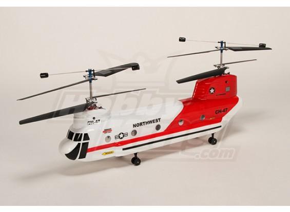 38#科尔CH-47 BIG-2.4GHz的奇努克直升机B&F