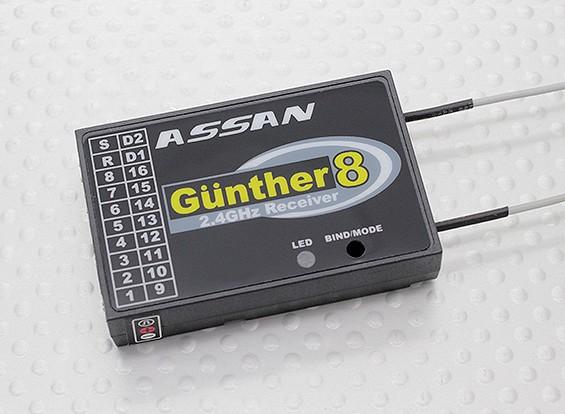 ASSAN冈瑟8 2.4GHz的FASST兼容8CH S.BUS接收器