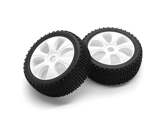 HobbyKing 1/8尺度k规格Y型轮辐车轮/轮胎17毫米十六进制(白色)