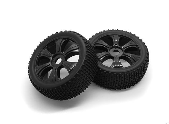 HobbyKing 1/8尺度k规格Y型轮辐车轮/轮胎17毫米十六进制(黑色)