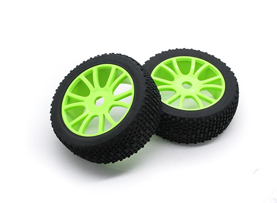 HobbyKing 1/8比例加扰Ÿ辐条车轮/轮胎17毫米十六进制(绿)