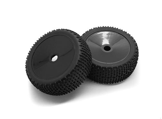 HobbyKing 1/8尺度k规格拉力盘车轮/轮胎17毫米十六进制(黑色)