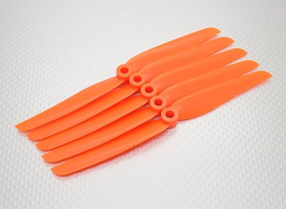GWS风格Slowfly螺旋桨7x3.5橙色(CCW)(5片装)